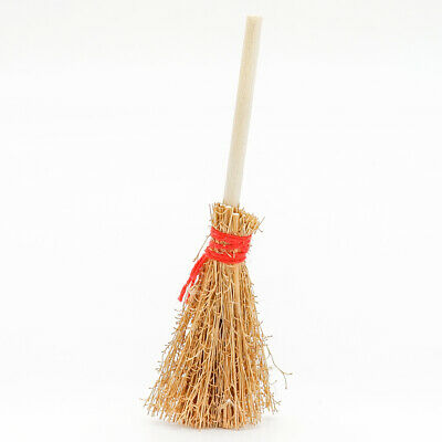 Wooden Broom Wicca Witch Garden 1:12 Dollhouse Miniature Accessory Gift Toy Cute