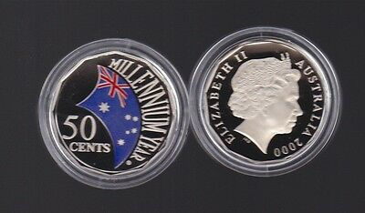2000 50 cents cent  Millennium Year coloured PROOF Australia Coin ex Baby Set