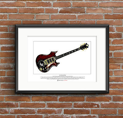 Jerry Garcia's Tiger guitar Limited Edition Fine Art Print A3 size