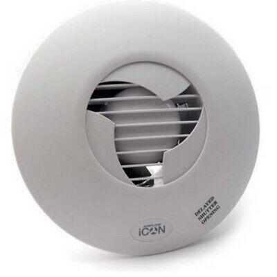 Airflow iCON 60 Kitchen Extractor Fan Mains 150mm Large Bathroom Auto Shutter 6""