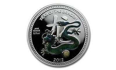 Niue 2012 $2 Lunar Year of the Dragon - Pearl Dragon 1/2 Oz Silver Proof Coin