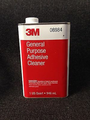 2 Packs 3m 08984 1 Quart General Purpose High Quality Adhesive Cleaner Brand New Liquid Glues & Cements Business & Industrial