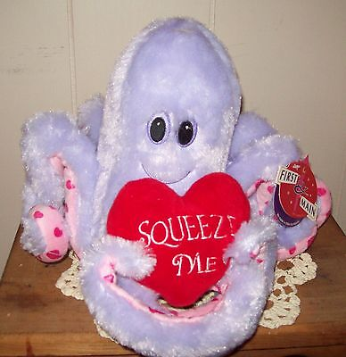 First and Main Purple Plush Ollie Octopus Stuffed Animal NWT Wholesale Priced