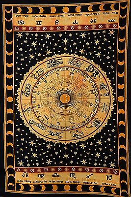Psychedelic Tapestry Indian Wall Art Celestial Sun and Moon Tapestries Zodiac