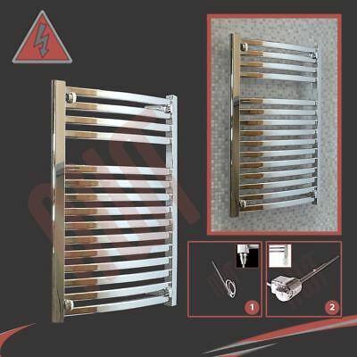 "600mm(w) x 800mm(h) Pre-Filled Electric ""Ellipse"" Chrome Towel Rail - 300W"