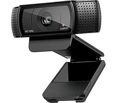Logitech C920 Pro HD Webcam 1080p Microphone Video Skype USB PC NEW !