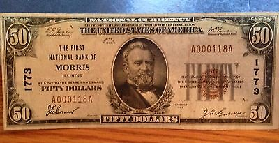 First National Bank Of Morris Illinois $50