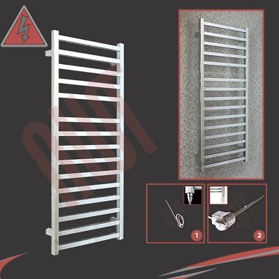 "500mm(w) x 1165mm(h) Pre-Filled Electric ""Denbigh"" Chrome Designer Towel Rail"