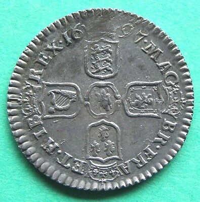 1697  William 111 - Sixpence - EF - Spink3531 - SN6496