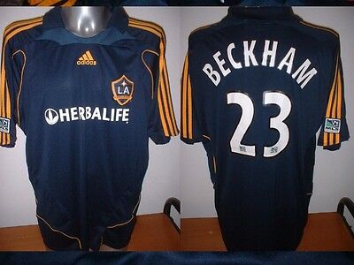LA GALAXY David BECKHAM Adult XXL Football Soccer Jersey Shirt Adidas Trikot Top