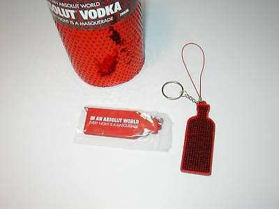 Absolut Vodka Masquerade Necktag Keychain - New In Pack