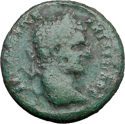 CARACALLA Hadrianopolis in Thrace  Ancient Roman Coin Hygeia Asclepius  i48527