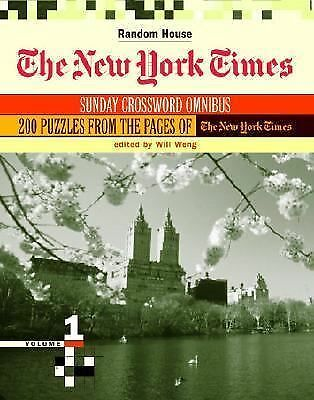 The New York Times Sunday Crossword Omnibus, Volume 1, , Acceptable Book