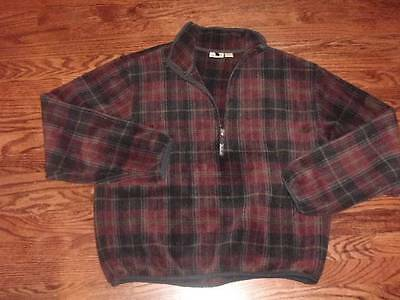 Men's WOOLRICH POLARTEC Plaid Fleece Shirt Sweater Lg Excellent Condition L@@K