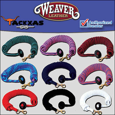3/4X25ft WEAVER COTTON LUNGE LINE HORSE RUBBER STOPPER BRASS SNAP