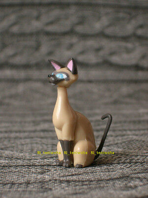 """Si and Am"" Lady and the Tramp Choco Egg Disney Figure KAIYODO Siamese cat"