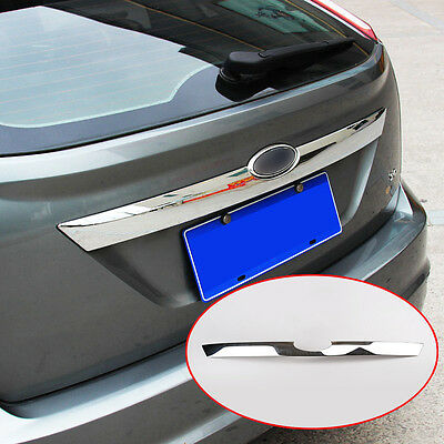 Fit For 2009-11 Ford Focus Hatch Hatchback Chrome Rear Boot Door Trunk Cover Lid