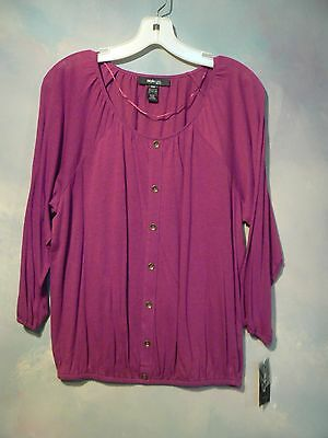 NEW WITH TAGS MSRP $39.00 STYLE & CO LADIES PETITE TOP SIZE PETITE MEDIUM