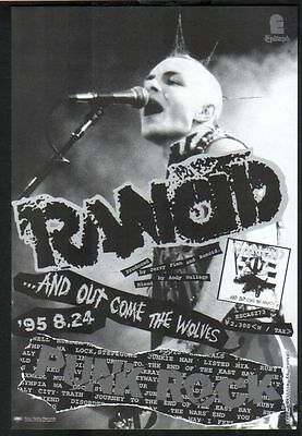 1995 Rancid And Out Come The Wolves JAPAN album ad / mini poster advert / r09c