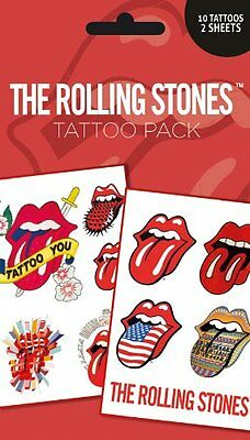 Official The Rolling Stones - Temporary Tattoo Pack