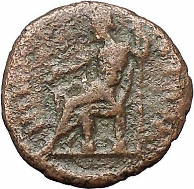 SEPTIMIUS SEVERUS Rare Ancient Roman Coin Jupiter  Zeus enthroned  i48559