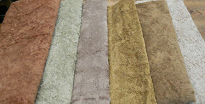 1/8 Metre Antique Style Viscose ,Cafe Latte, (Third From Left)