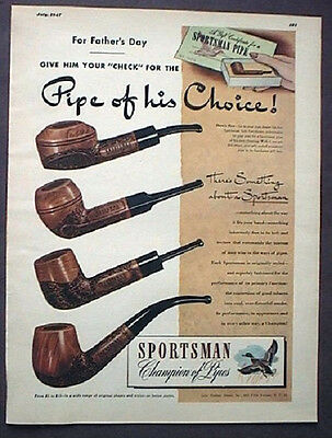 Sportsman  Pipe Ad, 1947