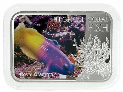 Niue 2013 $1 Tropical Coral Fish - Royal Gramma 28.28g Silver Proof Coin
