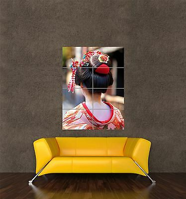 GEISHA JAPANESE HAIR ASIAN WOMAN GIRL ART PRINT POSTER PICTURE BMP2098B
