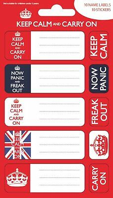 Größe Ø9 Cm And Carry On Keep Calm Sticker Aufkleber