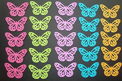 50 THE BRIGHTS PAPER MARTHA STEWART MONARCH BUTTERFLY DIE CUTS PUNCHES