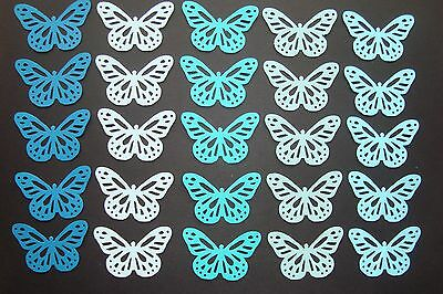 50 BLUE OMBRE PAPER MARTHA STEWART MONARCH BUTTERFLY DIE CUTS PUNCHES