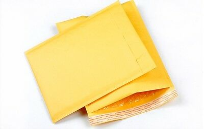 """500 #000 4x8 Kraft Paper Bubble Padded Mailers Envelopes Case Self Seal 4""""x8"""""""