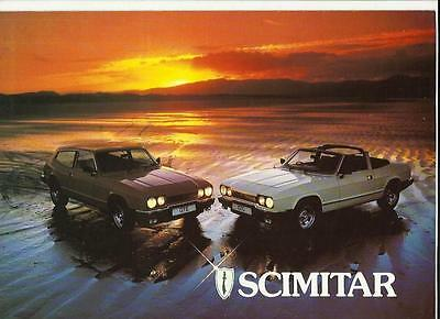 RELIANT SCIMITAR GTE AND GTC SALES BROCHURE SHEET EARLY 80's
