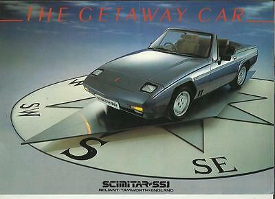 RELIANT SCIMITAR SS1 1300 AND 1400 SALES BROCHURE EARLY/MID 80's