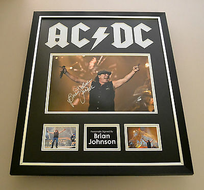 Brian Johnson Signed Photo Large Framed Display AC/DC Autograph Memorabilia COA