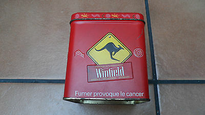 collectable old cigarette tin 'winfield australias favorite' 3 x 30 cigarettes