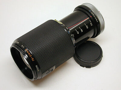 CANON FD MOUNT MANUAL FOCUS KIRON 70-210MM F4 MACRO LENS..LOOKS-WORKS GREAT.CAPS