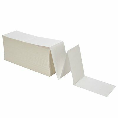 "4000 Fanfold 4"" x 6"" Direct Thermal Labels Shipping / Barcode Labels Zebra UPS"