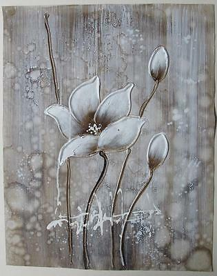 """Modern abstract flower oil painting on canvas modern art oil paintings 12x16"""""""