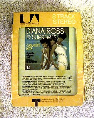 DIANA ROSS AND THE SUPREMES - GREATEST HITS - 8-TRACK TAPE - GREAT ITEM!!