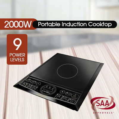 2000W Electric Induction Cooktop Portable Cooker Kitchen Hotplate Burner