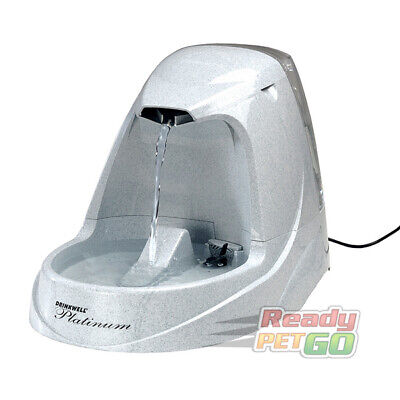 PetSafe Drinkwell Platinum Pet Water Drinking Fountain For Cats & Dogs