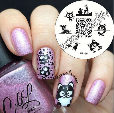 Nagel Schablone BORN PRETTY BP59 Nail Art Stamp Stamping Template Plates