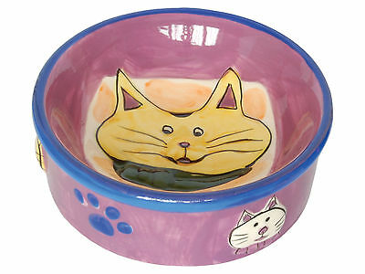 Quality Ceramic Cat Food or Water Bowl/Dish Choice of 4 Attractive Designs