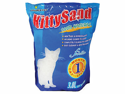 3.8L Kitty Sand Silica Gel Cat Litter Buy 1,3 or 8 Bags Value Bulk Deal Natural