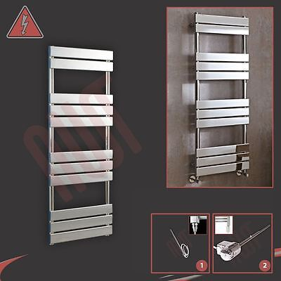 "500mm (w) x 1350mm (h) Pre-filled Electric ""Vega"" Chrome Towel Rail - 300W"