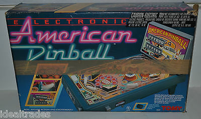TOMY AMERICAN PINBALL VINTAGE ELECTRONIC TABLETOP GAME NO AC ADAPTER