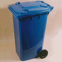 "64 Gallon Blue  Big Wheel Container 29"" x 23"" x 42"" Blue"