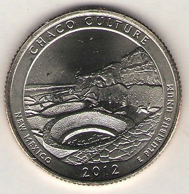 US. 2012-D. Chaco Culture National Historical Park. NM (Feb. 20.1983) UNC